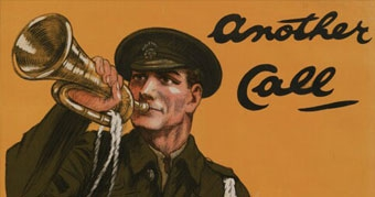 "WW1 poster: Another call ""More men and still more until the enemy is crushed"" Lord Kitchener"