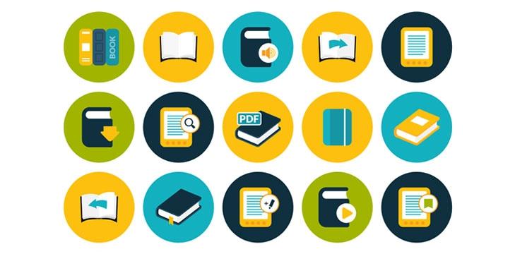 Educational icons illustration