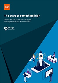 Front cover of the edtech report - the start of something big?