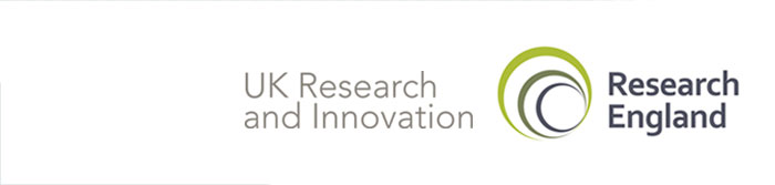 UKRI and Research England logos