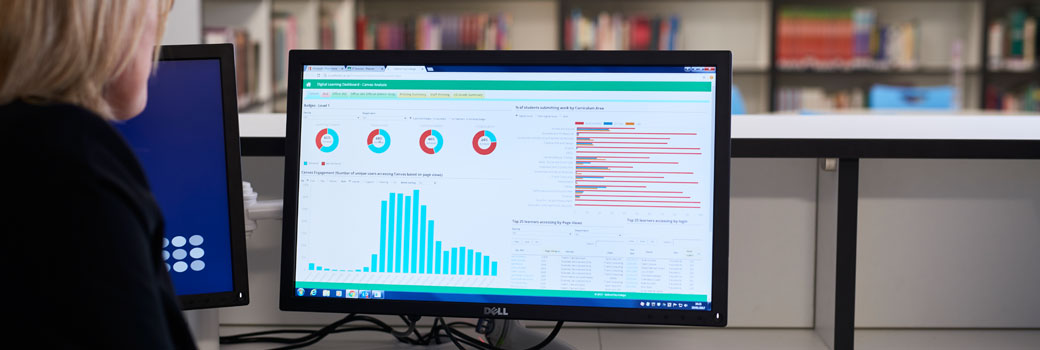 On-screen analytics at Salford City College