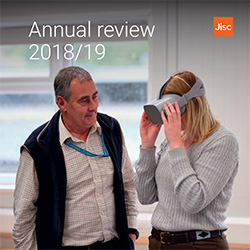Jisc annual review 2018/19 front cover