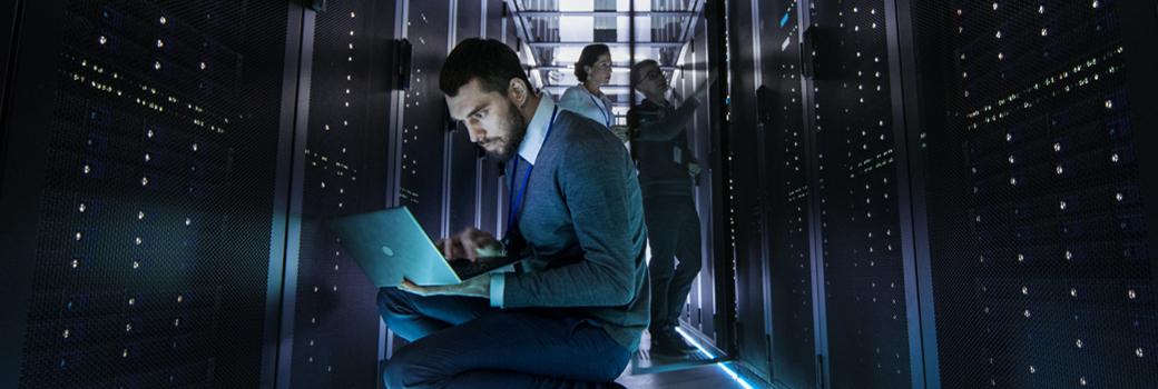 IT technician in big data center