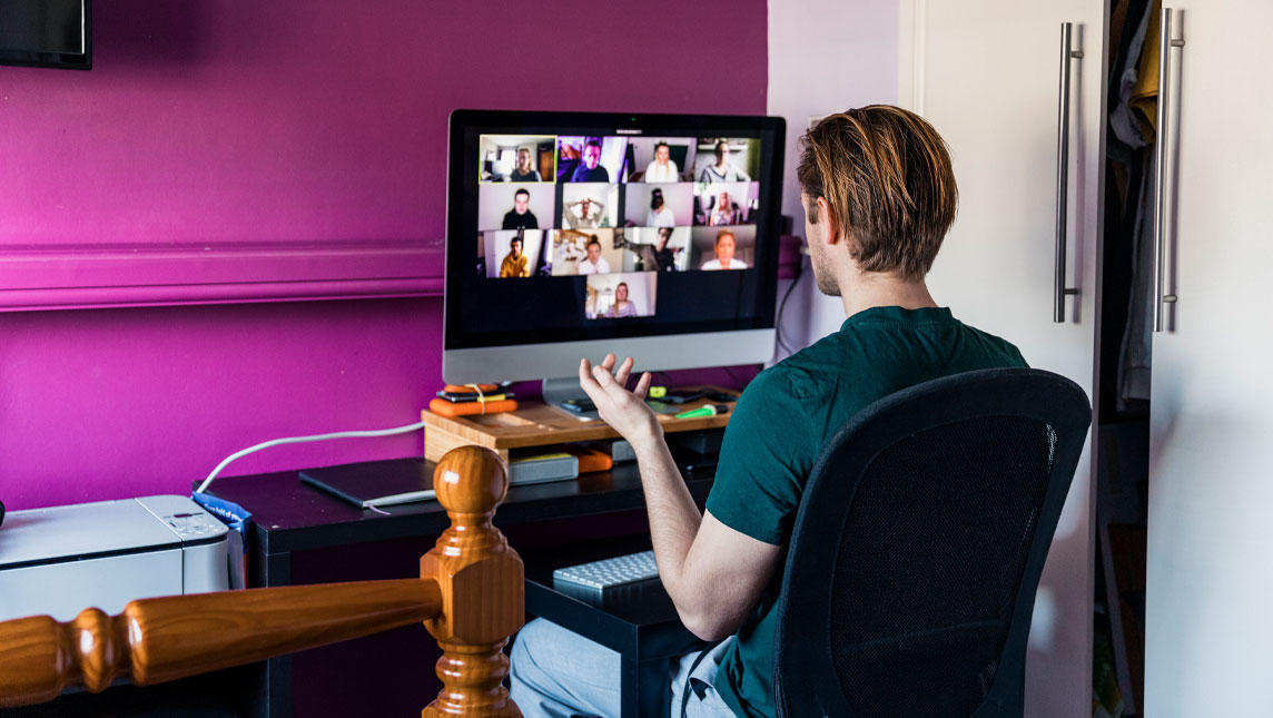 Student on a videoconference