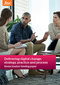 Front cover of Jisc briefing paper