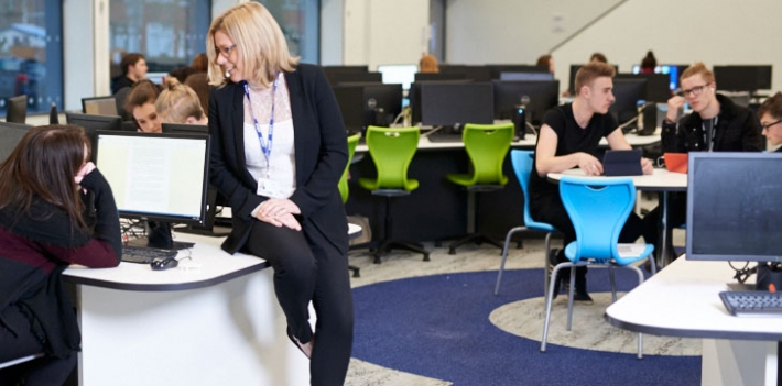 Staff and students at Salford City College