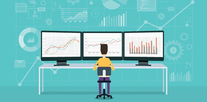 Looking at data illustration
