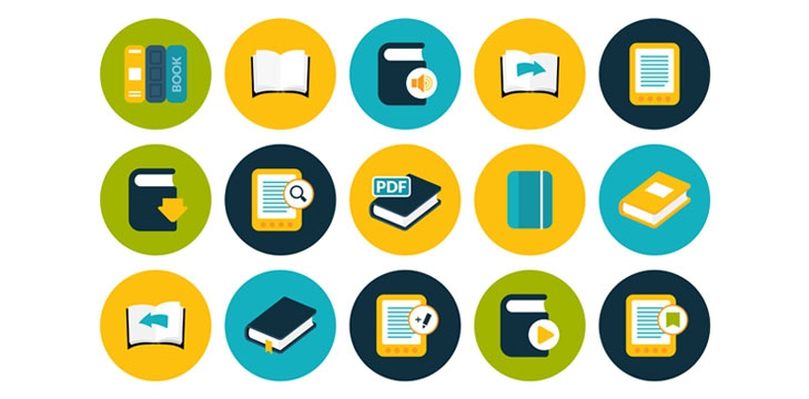 Educational icons illustration