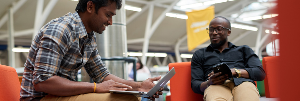 Students at University of Derby using wifi